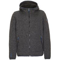 Killtec Eik JR Kinder Strick Fleecejacke grau