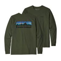 Patagonia LS P-6 Logo Responsibili Tee Pullover grün