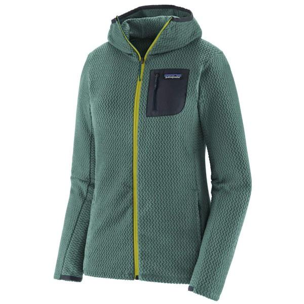 Patagonia R1 Air Full-Zip Hoddy Damen Fleecejacke grün