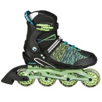 Stuf Cosmos Knitted Alu Inline Skates schwarz