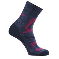 Rohner Hiking Men Wandersocken grau rot