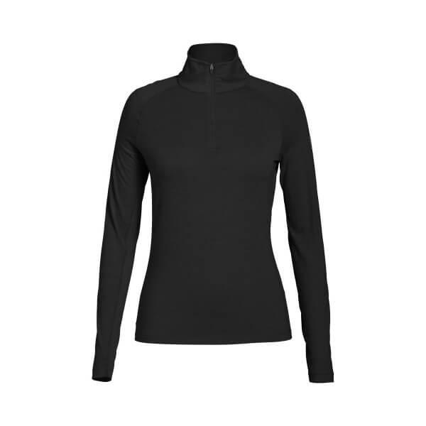 Super.Natural Base 1/4 Zip 175 Damen Merino Funktionsunterwäsche schwarz