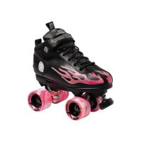 Sure Grip Roller Skates Rock Flame Rollschuhe Pink