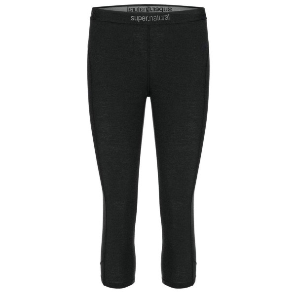 Super.Natural W Base 3/4 Tight 175 Merino Damen Funktionsunterhose schwarz