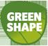 Green Shape Label