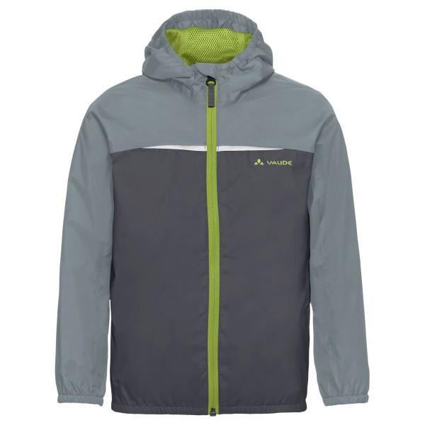 VAUDE Turaco Jacket Kinder leichte Regenjacke grau