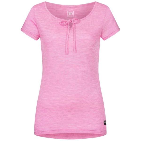 Super.Natural Relax Tee Damen Merino Funtionsshirt pink