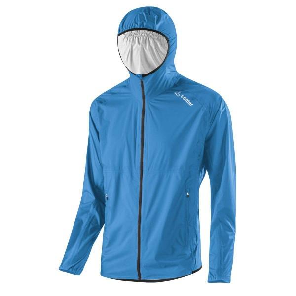 Löffler M Hooded Jacket WPM Pocket Funktionsjacke blau