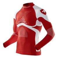 X-Bionic Ski Man Patriot Accumulator Evo Shirt Switzerland Funktionsshirt langarm rot