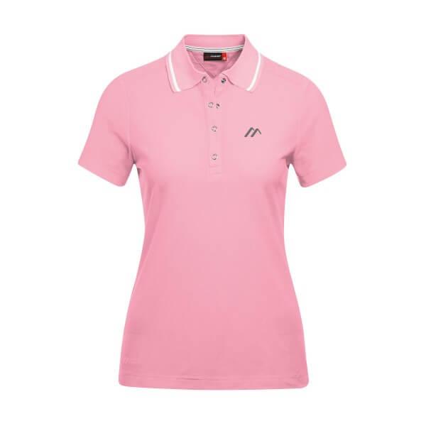 Maier Sports Comfort Damen Polo Shirt rosa