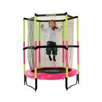 Hudora Trampolin Jump InØ 140 cm Indoor Sicherheitstrampolin pink