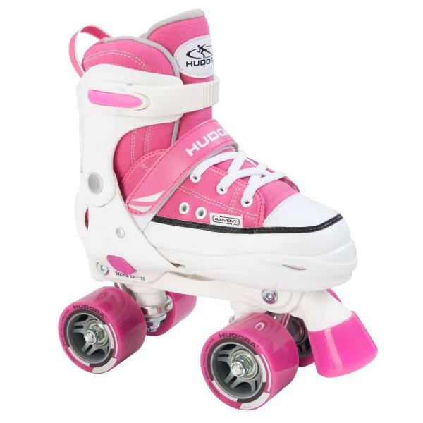 Hudora Rollschuhe Kinder Roller Skates verstellbar pink
