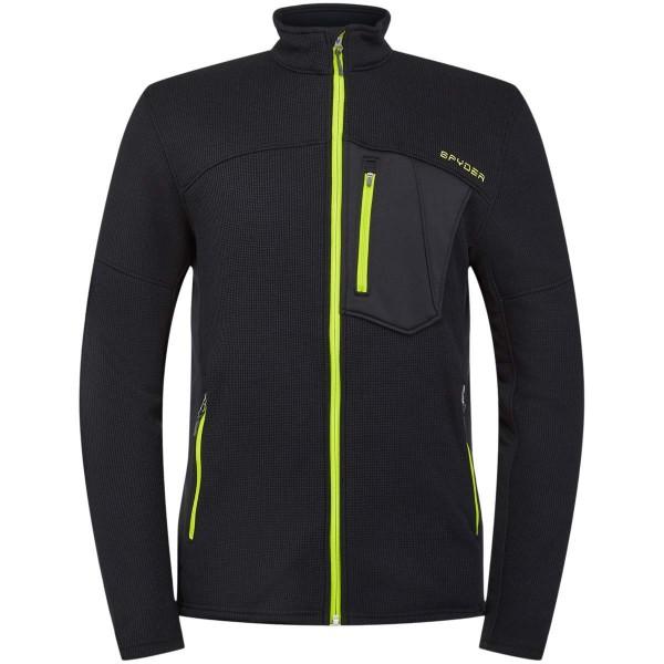 Spyder Bandit Full Zip Jacket Fleecejacke schwarz grün