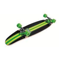 No Rules Longboard Line Abec 7 Skateboard schwarz grün