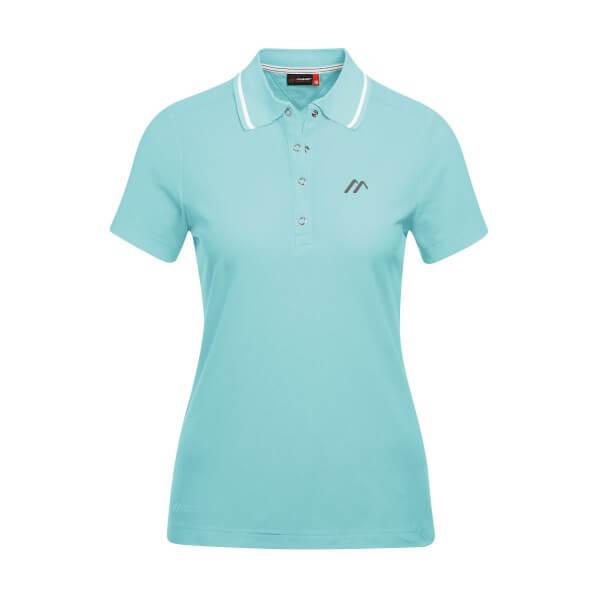 Maier Sports Comfort Damen Polo Shirt blau