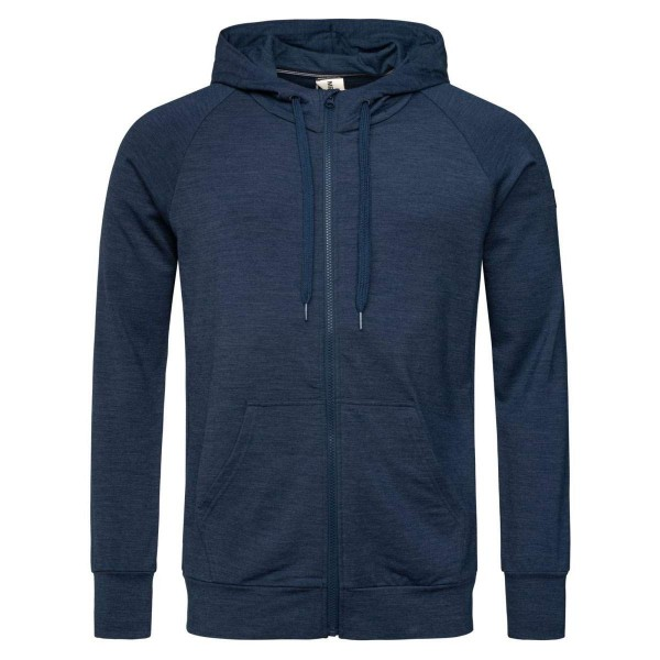 Super.Natural M Essential Zip Hoodie Merino Kapuzenpulli blau
