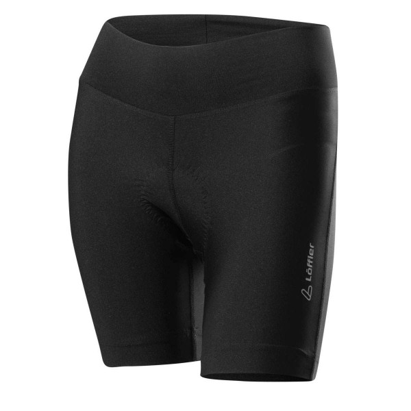 Löffler W Bike Extra Short Tights Tour Damen Radhose kurz schwarz
