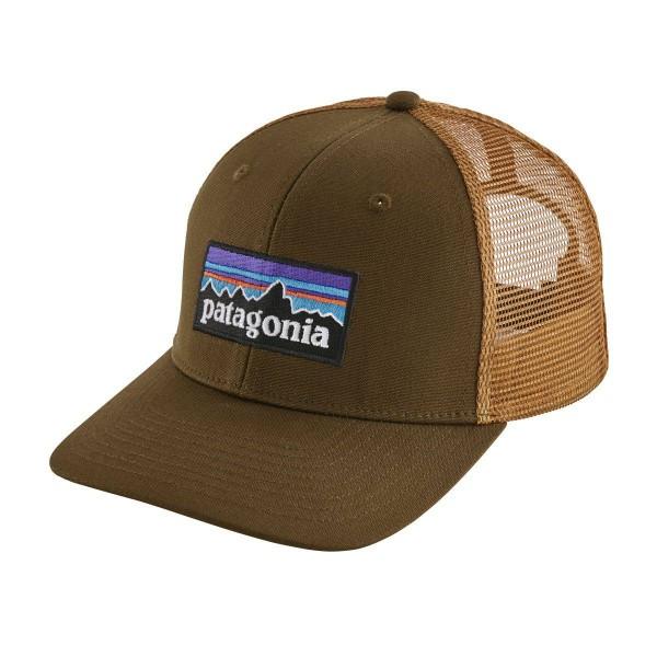 Patagonia P-6 Logo Trucker Hat Schildmütze braun