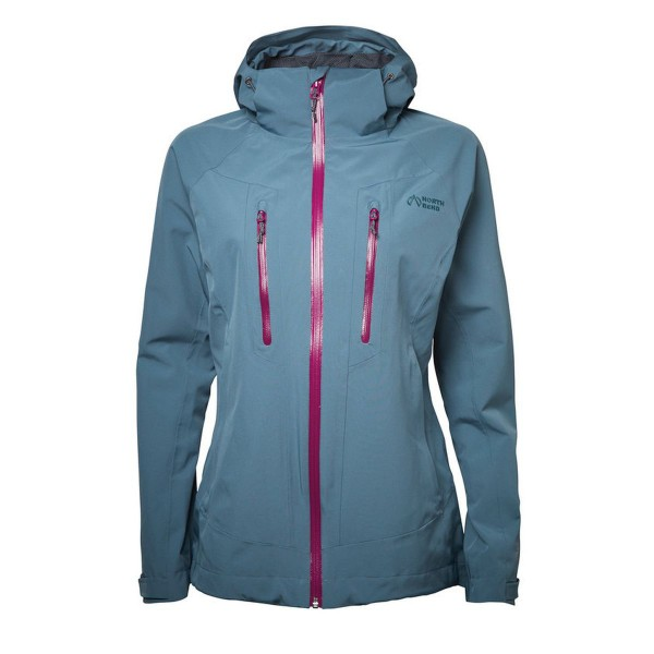 North Bend Nos Flex Stretch Damen Wanderjacke blau
