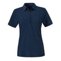 Schöffel Capri Polo Shirt Damen Funktionsshirt blau