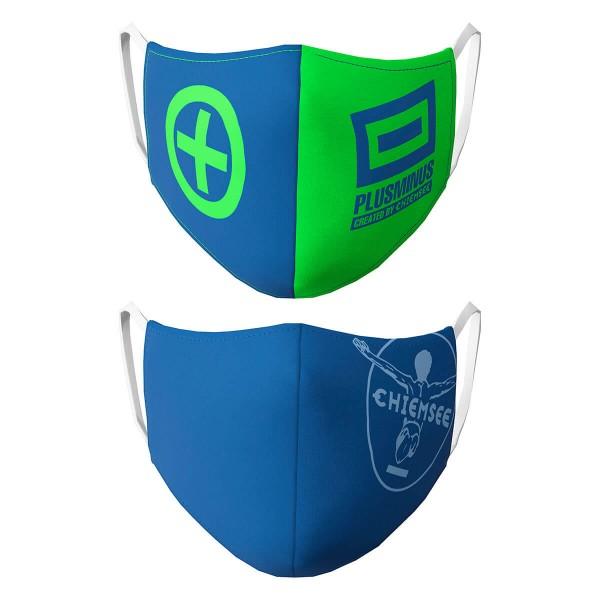Chiemsee Mund-Nasen-Maske Gesichtsmaske Doppelpack blau