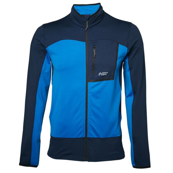 North Bend Nevis Zip Shirt Fleecejacke blau