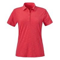 Schöffel Capri Polo Shirt Damen Funktionsshirt orange