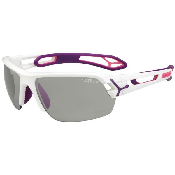 Cebe S Track M Shiny White Purple Sportbrille weiß