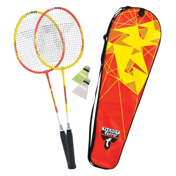 Talbot Torro Badminton Set 2 Fighter Thermobag rot gelb