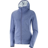 Salomon Right Nice Mid Hoddie Damen Funktionsjacke blau