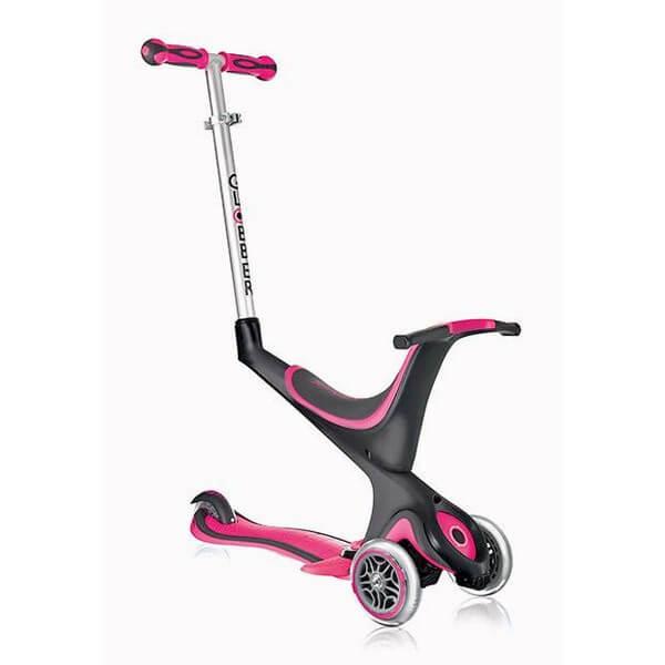 Globber My Free Kids 5in1 3 Wheel Scooter bi inject pink schwarz