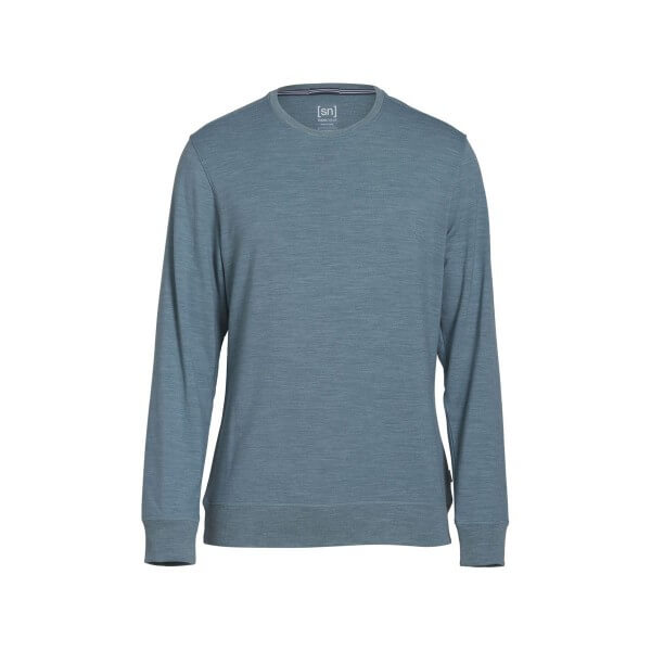 Super.Natural Watertown Crew Neck Merino Pullover Funktionswäsche grau