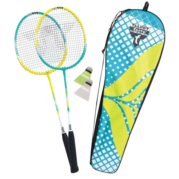 Talbot Torro Badminton Set 2 Fighter Pro mit Thermobag