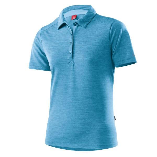 Löffler Poloshirt Merino Damen Funktionsshirt blau