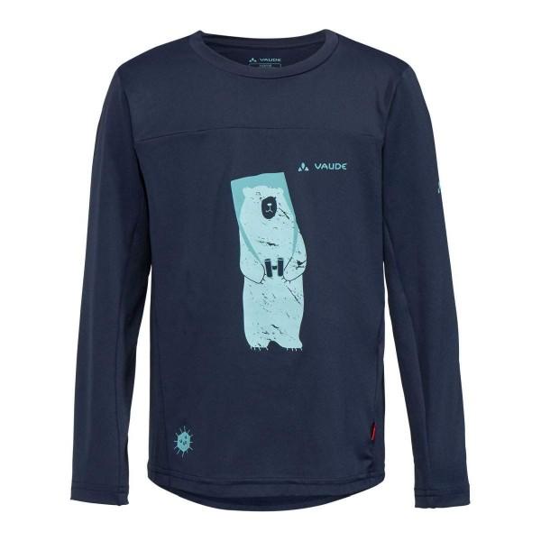 VAUDE Kids Solaro LS Kinder T-Shirt blau