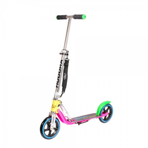 Hudora Big Wheel 205 Neon Roller Scooter pink gelb grün blau B-Ware SEHR GUT