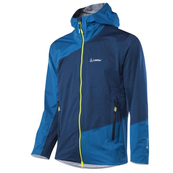Löffler M Hooded Jacket Pace GTX Active Funktionsjacke blau