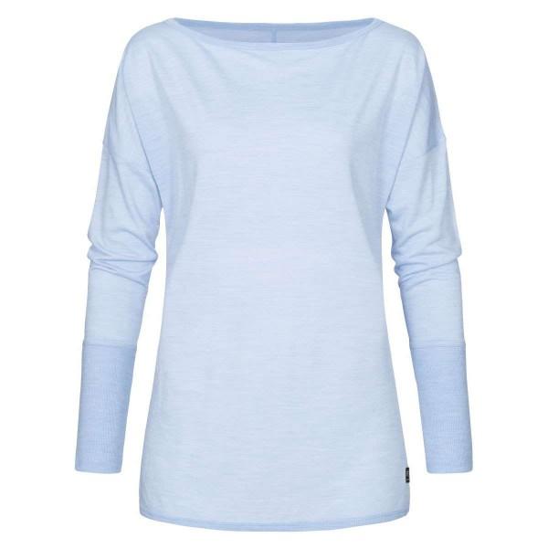 Super.Natural Travel LS Damen Merino Funktionsshirt blau