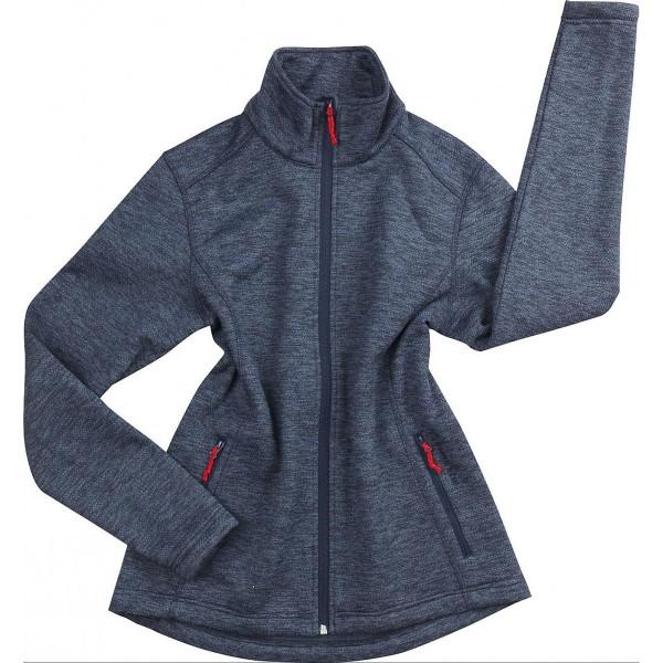 North Bend Act Knit Fleece Damen Fleecejacke blau