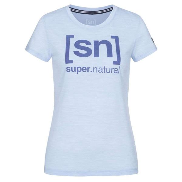 Super.Natural Essential I.D. Tee Damen Merino Funktionsshirt hellblau