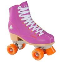 Hudora Roller Disco Damen Rollschuhe Quads lila orange