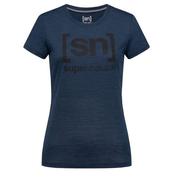 Super.Natural W Essential I.D. Tee Merino Damen Funktionsshirt blau