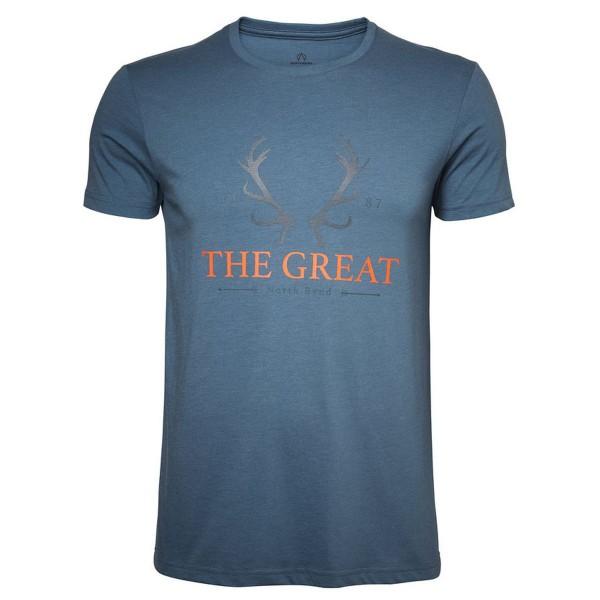 North Bend Vertical Tee T-Shirt blau