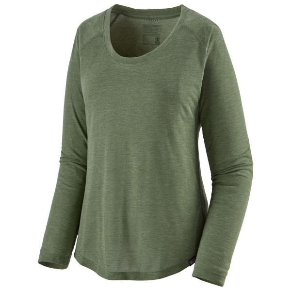 Patagonia Cap Cool Trail Shirt Damen Langarmshirt grün