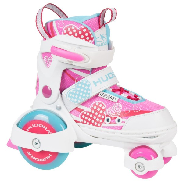 Hudora My First Quad Girl Kinder Rollschuhe rosa