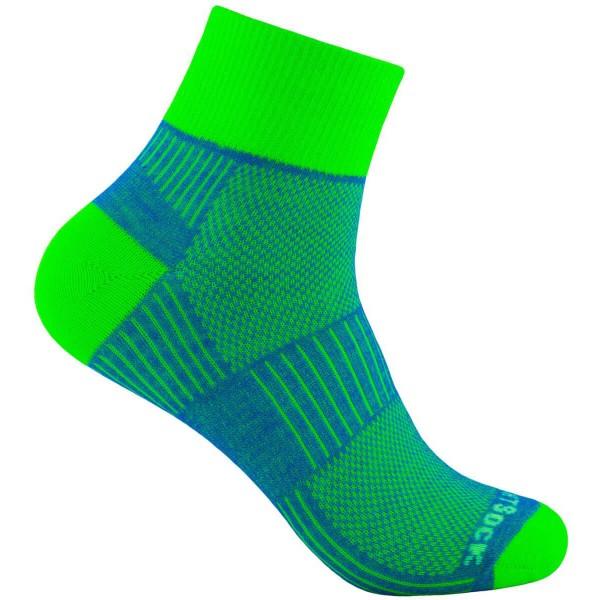 Wrightsock Coolmesh II quarter doppellagige Socken grün