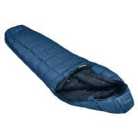 Vaude Sioux 100 SYN Schlafsack blau Reißverschluss links