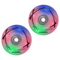 Hudora 2 LED Ersatzrollen Inline Skates 64mm x 22 mm