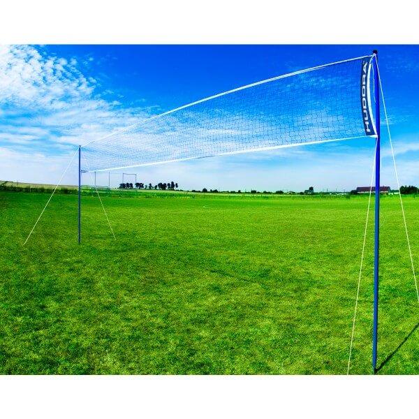 Hudora Volleyball Badminton Netz Set