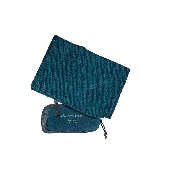 VAUDE Comfort Towel II L Mikrofaserhandtuch blau